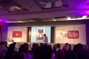 Dave Gorman: the comedian onstage at Advertising Week in a session on personalisation