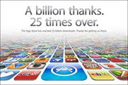 Apple: announces the 25-billionth app download