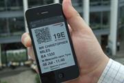 BA mobile boarding pass on Blackberry