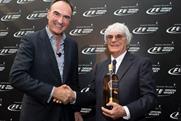 Partnership: Nick Blazquez of Diageo (l) and Bernie Ecclestone of Formula 1 (r)