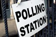 A UK polling station: The Electoral Commission is using mobile to persuade more young people to vote