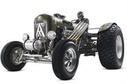 Pimped up tractor races a Lotus for launch of Ardbeg's global tour