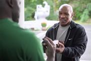Mike Tyson makes amends for ear-biting, in Footlocker spot