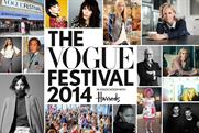 Vogue Festival 2014: sponsored by Harrods