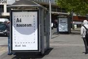 Brandalism: ad by Dr D  'Ad nauseum. Want less'
