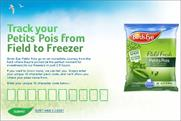 Birds Eye: launches Facebook app for tracking origins of packs of peas