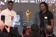 Coca-Cola: Daniel Sturridge and Christian Karembeu at the World Cup trophy tour