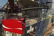 Coca-Cola: one of the #CokeDrones approaches a Singapore construction site