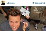 Olly Murs features in Sony Instagram ad