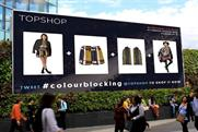 Topshop: ties up with Twitter and Ocean Outdoor for London Fashion Week