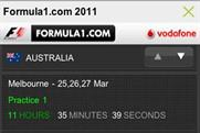 F1 app: straight in at number three on the Brand Republic chart