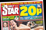 Daily Star: cover price now halved to 10p in London