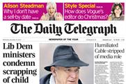 The Daily Telegraph: under pressure for Vince Cable report