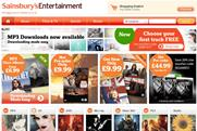 Sainsbury's: launches music downloads service