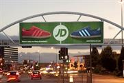 JD Sports: the first advertiser to use JCDecaux's Trafford Arch site