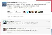 British Airways: apologises on Twitter