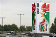 Kellogg's Corn Flakes: giant box covers M4 Torch site