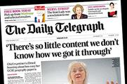 Daily Telegraph: circulation droppedl below 600,00 in November