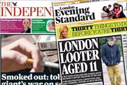 Independent and Evening Standard: to merge 60-strong sales force