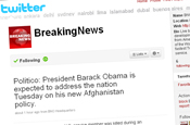Breaking News: MSNBC.com takes control of  Twitter feed