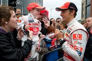 Jenson Button: meets Manchester fans on behalf of Vodafone and OMD Fuse