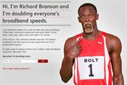 Virgin Media: Usain Bolt impersonates Richard Branson
