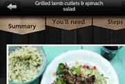 Top spot: Jamie Oliver's latest recipe app is number one on the BR chart