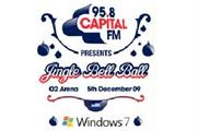 Microsoft Windows 7 to sponsor Capital FM's Jingle Bell Ball at the O2