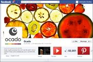 Ocado: promoting its social gifting offer via Facebook