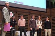 (l-r) host Justin Gibbons, Ashish Pathak, Oliver Deane, Benedict Pringle, Nicola Davies, Tony Jiang