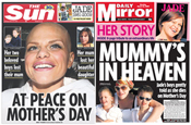 Goody: newspapers report her sad death