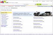EBay motoring services: adds hub to website