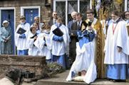 For 300 years a chorister has been 'upended' in the Willkes' Walk ceremony in Leighton Buzzard
