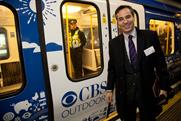 Antonio Alonso: CBS Outdoor International chief executive with branded Tube train