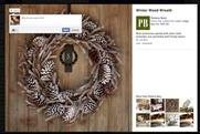 Facebook Pottery Barn page: new want button