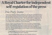 Press Regulation: newspapers publish charter