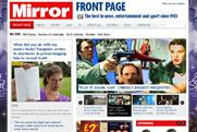 Daily Mirror: the newspaper's website