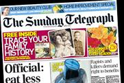 Telegraph: Saturday and Sunday editions post 10p cover price rises