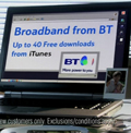 BT Broadband: iTunes promotion