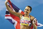 London 2012: Jessica Ennis at the London games with Aviva livery