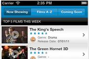 Odeon app: takes fourth spot on its debut in the BR chart