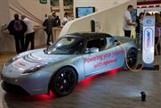 Npower: home charging points for electric cars display at the Ideal Home Show