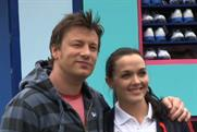 Samsung ambassador TV chef Jamie Oliver and champion track cyclist Victoria Pendleton