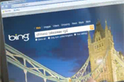 Bing: ident for Channel 4 show The Simpsons