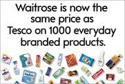 Waitrose: kicks off price match onslaught
