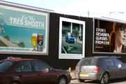 Mini billboards: promoting Smart Brabus model