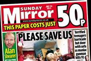 Sunday Mirror: circulation reaches more than two million