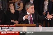 Gordon Brown: rousing speech