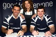 Paul Sculthorpe Liz Matkin and Jamie Rooney: line up for The Co-op