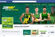 Subway: UK Facebook page overtakes McDonald's